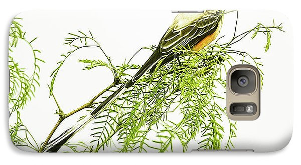 Galaxy Case featuring the photograph Scissortail On Mesquite by Robert Frederick