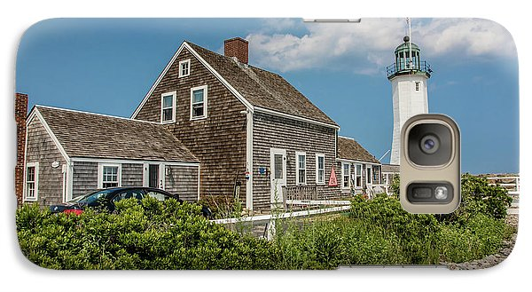 Galaxy Case featuring the photograph Scituate Lighthouse In Scituate, Ma by Peter Ciro