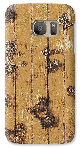 Motorcycle Galaxy S7 Case - Scooter Shed  by Jorgo Photography - Wall Art Gallery