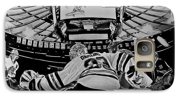 Galaxy Case featuring the drawing Scott Darling - First Nhl Shutout by Melissa Goodrich
