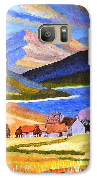 Galaxy Case featuring the painting Scottish Highlands 2 by Magdalena Frohnsdorff