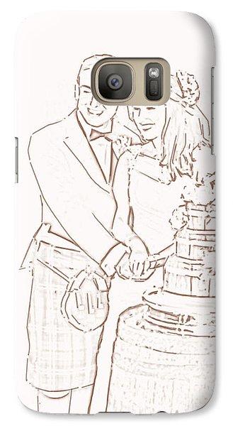 Galaxy Case featuring the drawing Scottish Wedding by Olimpia - Hinamatsuri Barbu