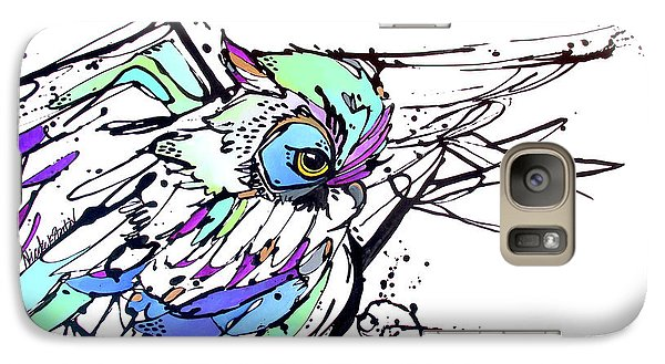 Galaxy Case featuring the painting Scouting by Nicole Gaitan