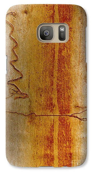 Galaxy Case featuring the photograph Scribbly Gum Bark by Werner Padarin