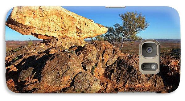 Galaxy Case featuring the photograph Sculpture Park Broken Hill by Bill Robinson