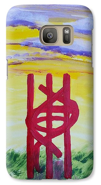 Galaxy Case featuring the painting Sculpture Park by Carol Duarte