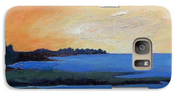 Galaxy Case featuring the painting Sea And Sky by Gary Coleman