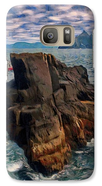 Galaxy Case featuring the painting Sea And Stone by Jeff Kolker