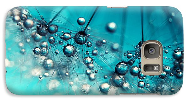 Galaxy Case featuring the photograph Sea Blue Shower by Sharon Johnstone