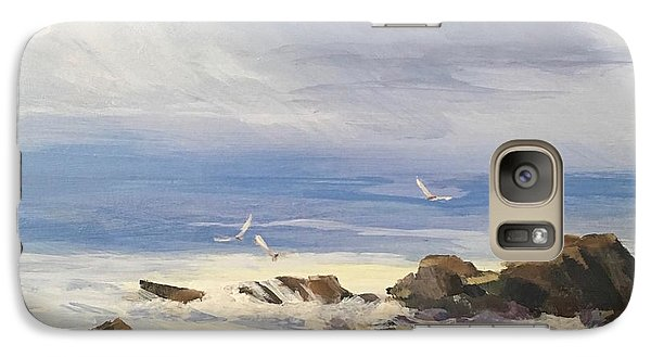Galaxy Case featuring the painting Sea Breeze by Helen Harris