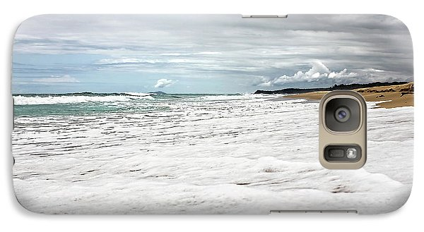 Galaxy Case featuring the photograph Sea Foam And Clouds By Kaye Menner by Kaye Menner