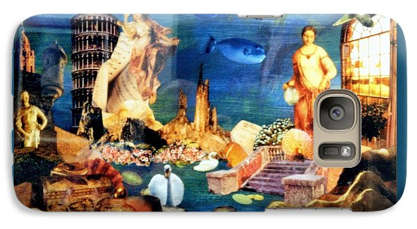 Galaxy Case featuring the painting Sea Garden by Gail Kirtz