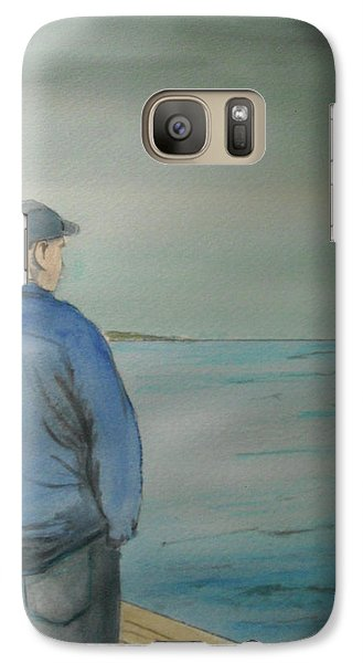 Galaxy Case featuring the painting Sea Gaze by Anthony Ross