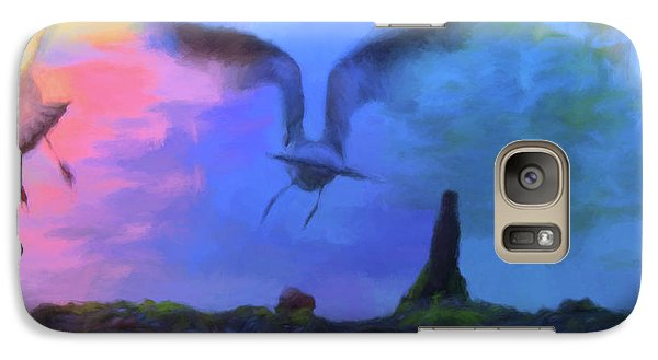 Galaxy Case featuring the photograph Sea Gull Abstract by Jan Amiss Photography