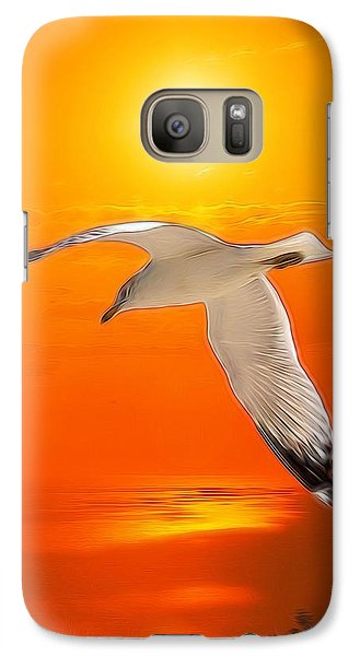 Galaxy Case featuring the photograph Sea Gull by Athala Carole Bruckner