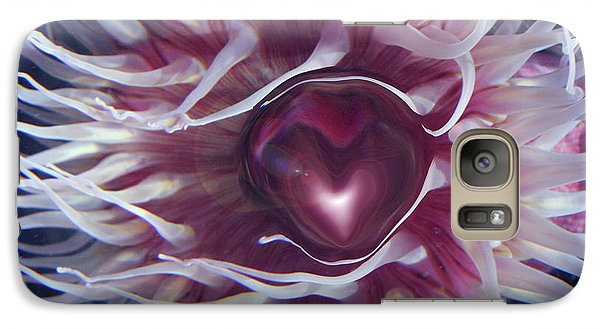 Galaxy Case featuring the digital art Sea Heart by Linda Sannuti