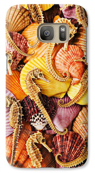 Sea Horses And Sea Shells Galaxy Case by Garry Gay