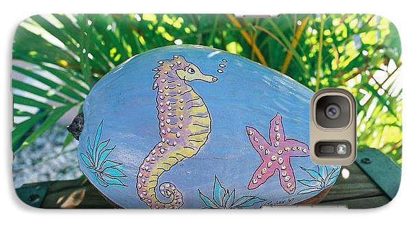Galaxy Case featuring the mixed media Sea Life by Nancy Taylor