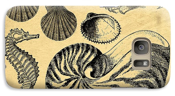Galaxy Case featuring the drawing Sea Life Vintage Illustrations by Edward Fielding