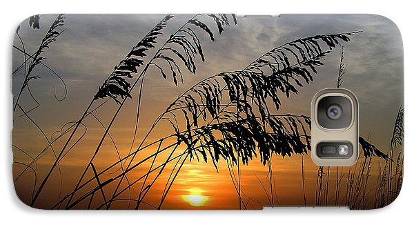Galaxy Case featuring the photograph Sea Oats by Dan Wells