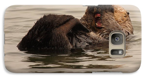 Galaxy Case featuring the photograph Sea Otter Giving A Shocked Expression by Max Allen