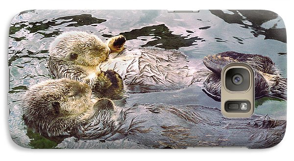 Sea Otters Holding Hands Galaxy Case by BuffaloWorks Photography