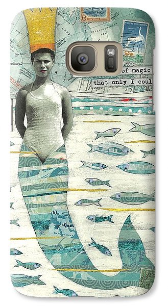 Galaxy Case featuring the painting Sea Queen by Casey Rasmussen White