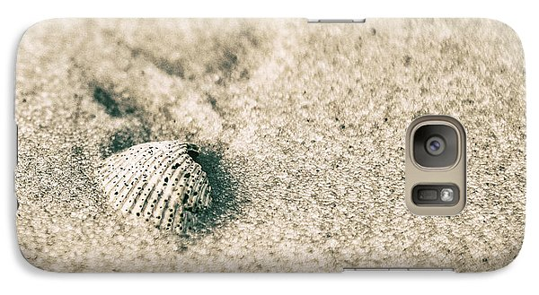Galaxy Case featuring the photograph Sea Shell On Beach  by John McGraw