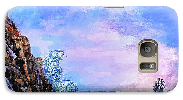 Galaxy Case featuring the painting Sea Stories 2  by Andrzej Szczerski