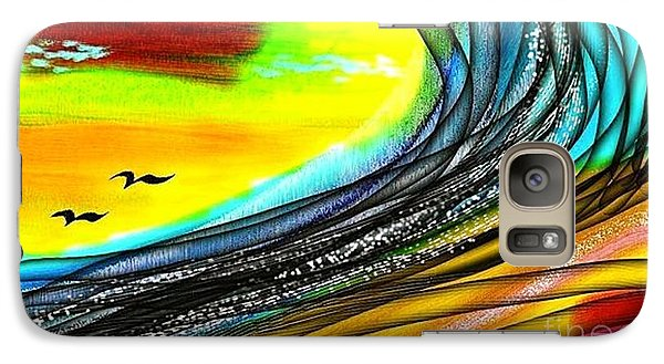 Galaxy Case featuring the painting Sea by The Art of Alice Terrill