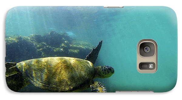Galaxy Case featuring the photograph Sea Turtle #5 by Anthony Jones