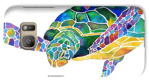 Sea Turtle Celebration 4 Prints Only Galaxy S7 Case by Jo Lynch