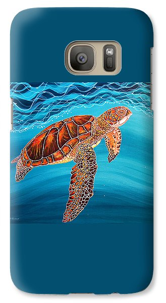 Galaxy Case featuring the painting Sea Turtle by Debbie Chamberlin