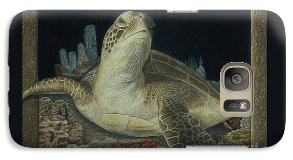 Galaxy Case featuring the painting Sea Turtle by Jennifer Watson