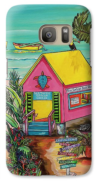 Galaxy Case featuring the painting Sea Turtle Rescue Center by Patti Schermerhorn