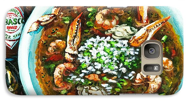 Galaxy Case featuring the painting Seafood Gumbo by Dianne Parks