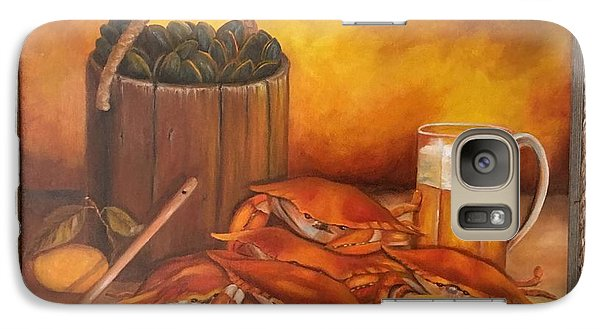 Galaxy Case featuring the painting Seafood Night by Susan Dehlinger
