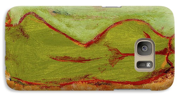 Galaxy Case featuring the painting Seagirlscape by Paul McKey
