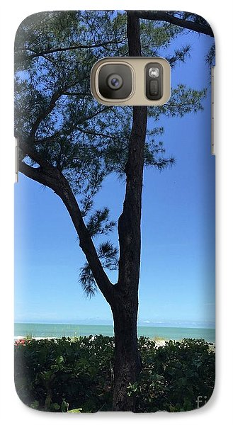 Seagrapes And Pines Galaxy Case by Megan Cohen