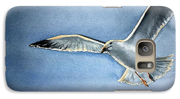 Galaxy Case featuring the painting Seagull by Eleonora Perlic