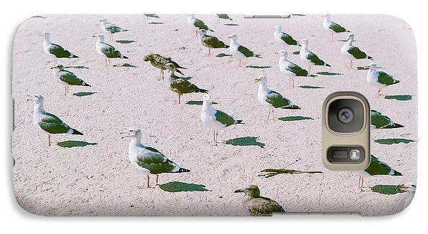 Seagulls  Galaxy Case by Ariane Moshayedi
