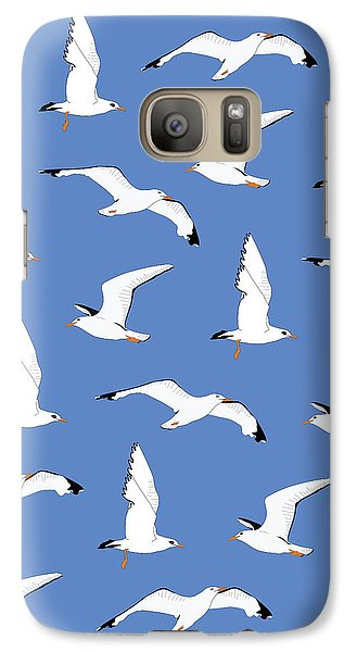 Seagulls Gathering At The Cricket Galaxy S7 Case