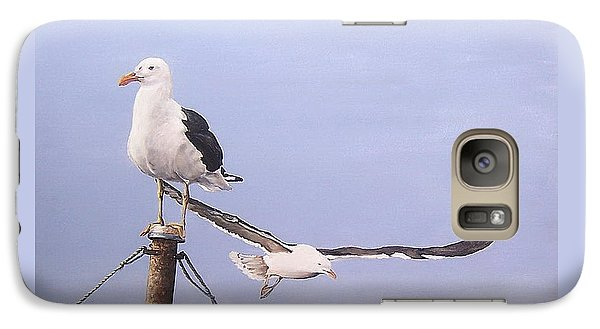 Galaxy Case featuring the painting Seagulls by Natalia Tejera