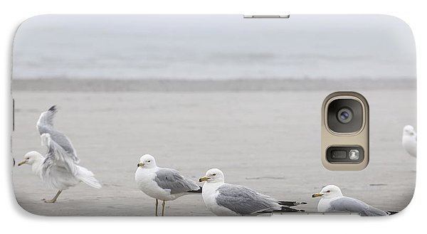 Seagulls On Foggy Beach Galaxy S7 Case