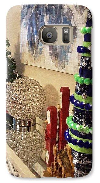 Galaxy Case featuring the photograph Seahawk Christmas by Judyann Matthews