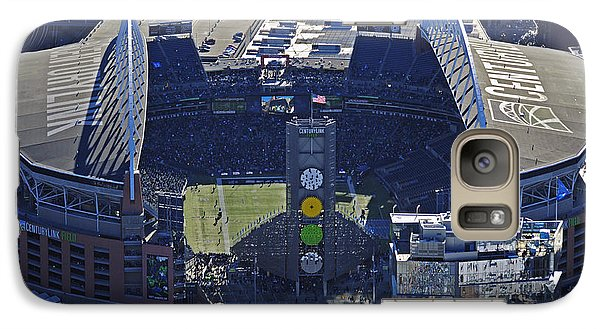 Galaxy Case featuring the photograph Seahawk Stadium by Jack Moskovita