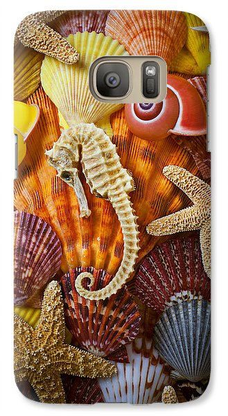Seahorse And Assorted Sea Shells Galaxy S7 Case