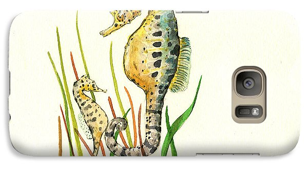 Seahorse Mom And Baby Galaxy S7 Case