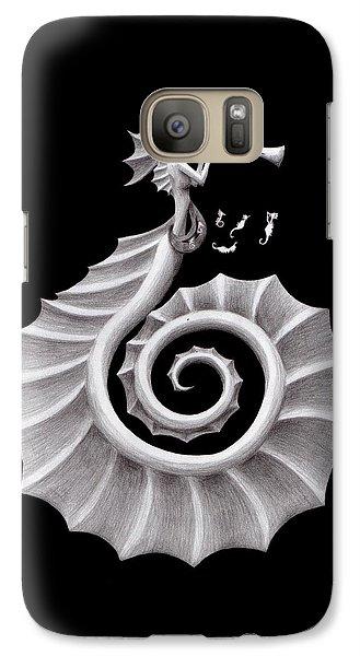 Seahorse Siren Galaxy S7 Case by Sarah Krafft
