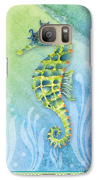 Seahorse Blue Green Galaxy S7 Case by Amy Kirkpatrick